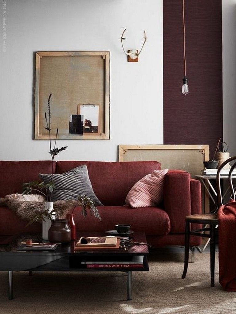 In the living room, red can play an array of different roles—acting as a vivid pop of color, adding weighty vibrance to the space, or most daringly, serving as the base of a room's entire palette. 20 Cozy Modern Red Sofa Design Ideas for Living Room ...