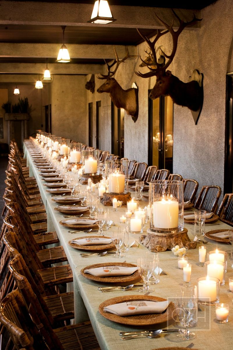 Antlers and elegant. Table settings, Rustic, Party people