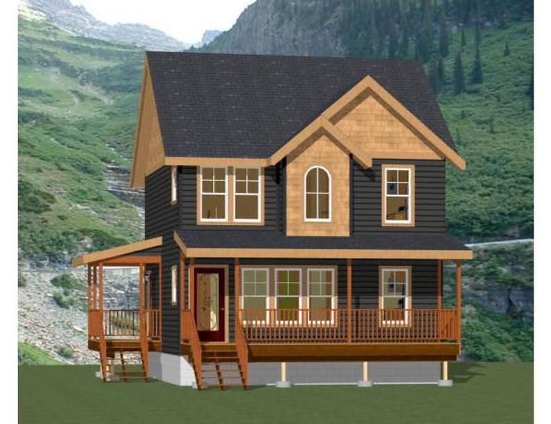 24x24 Duplex 1,096 sq ft PDF Floor Plan Instant