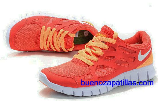 superior quality c6981 b441a Mujer Nike Free Run 2 Zapatillas (color   empeine y en el interior -  naranja  logo y unico - blanco)
