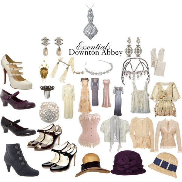 Downton Abbey essentials.  One of my favorite things about the show is the fashion.
