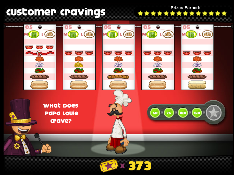 "Papa's Hot Doggeria Papa Louie in the minigame ""Customer"