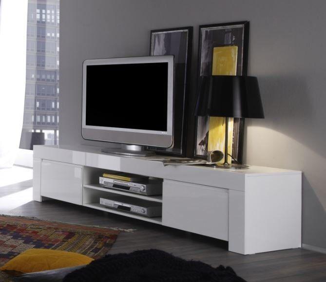 Rimini Collection Large Tv Unit Gloss White Large Tv