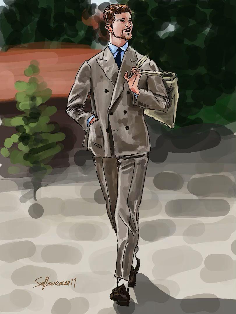 Pitti Uomo 96 Jake Edward Grantham Video Mens Fashion Illustration Illustration Fashion Illustration