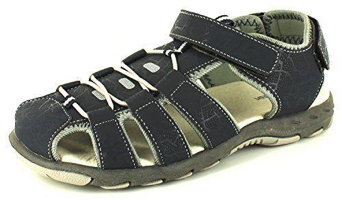 Neu Jungen/Kinder Marineblau/Grau Verstellbar Klettverschluss Sommer Sandalen - marineblau/grau - UK GRÖßEN 13-5 - http://on-line-kaufen.de/rockstorm/neu-jungen-kinder-marineblau-grau-verstellbar-uk