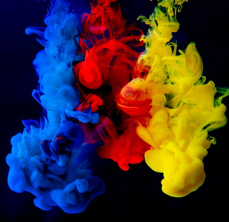 Colorful Ink In Water Ink In Water Paint Background Smoke Wallpaper Ink in water wallpaper hd