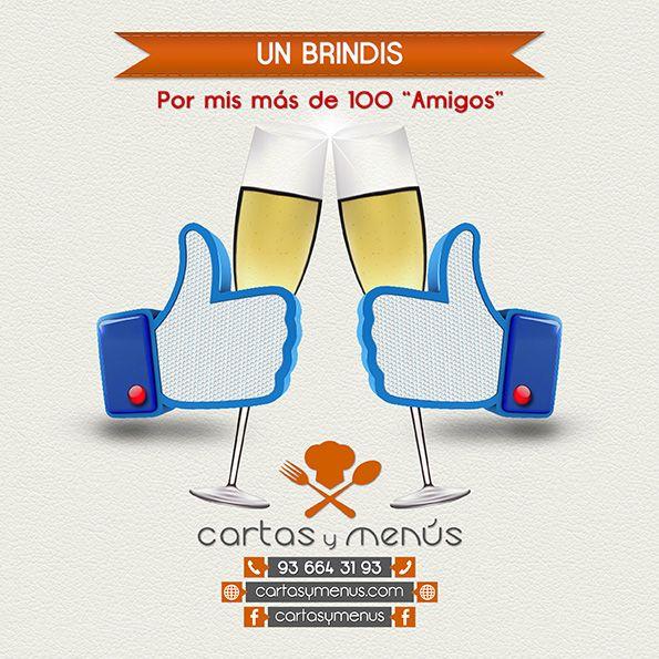 """- UN BRINDIS    Por mis más de 100 """"Amigos"""".    Si te gusta Comparte.      Cartas y Menús   Tel .: 93 664 31 93  http://www.facebook.com/cartasymenus http://www.facebook.com/dimpres  http://www.facebook.com/tarjetasdeempresa  http://www.facebook.com/postalespublicitarias  http://www.cartasymenus.com"""