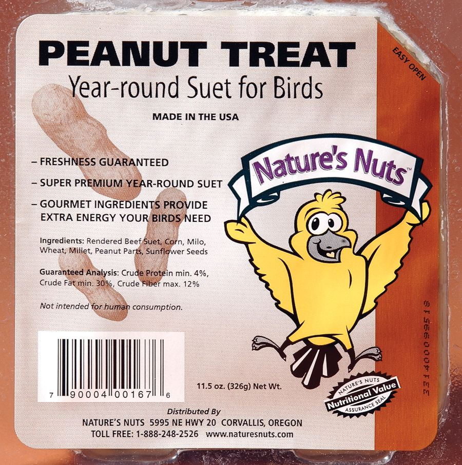 Give the birds extra TLC <3 this winter with our selection of high-fat, top quality #NaturesNuts SUET. Get 12 for $12 thru 2/1. Browse: bit.ly/2iGi7It