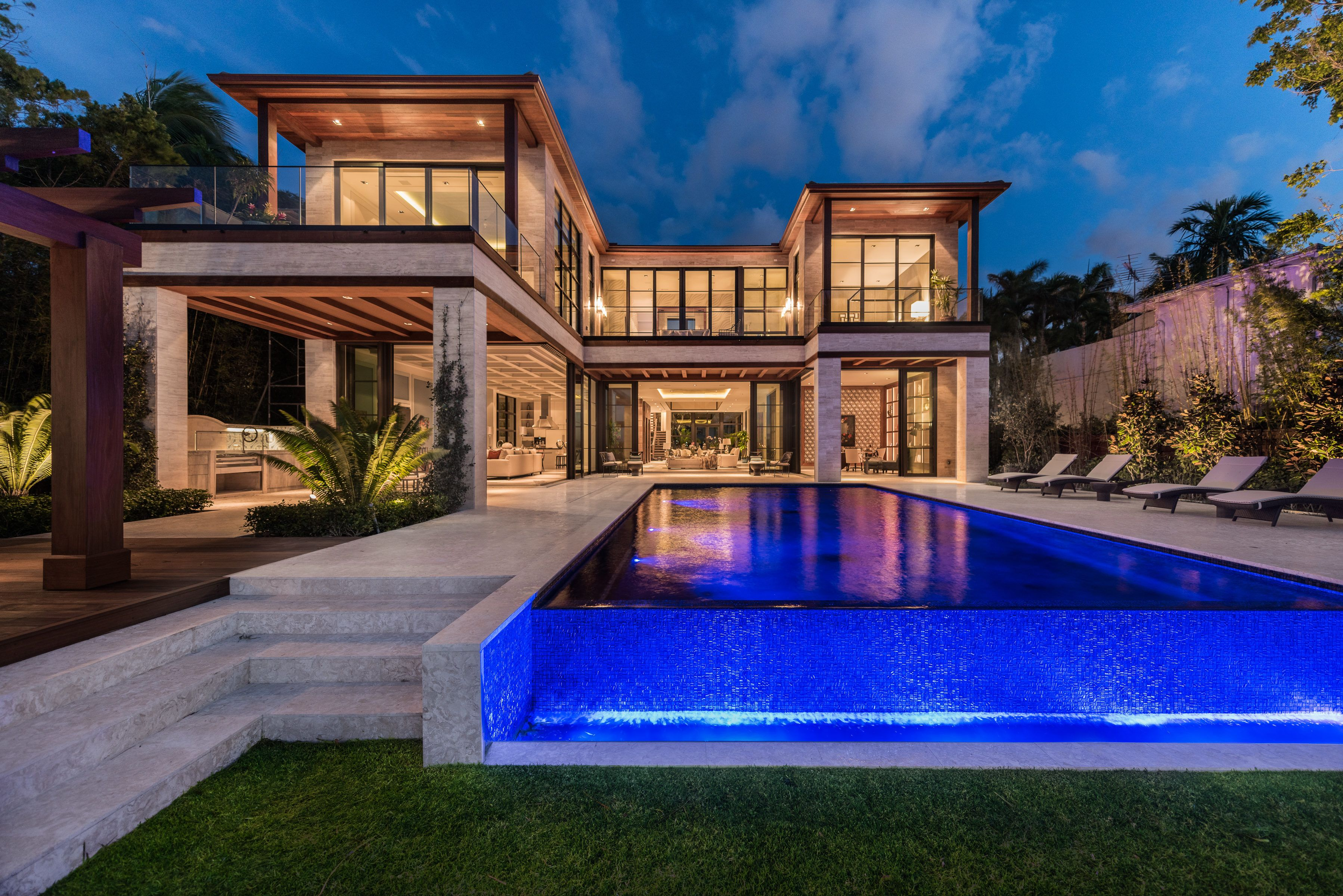 6010 North Bay Road Miami Beach Brand new Bayfront home