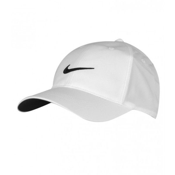 NIKE TECH SWOOSH CAP WHITE AW15 CLOSEOUT ($13) ❤ liked on Polyvore  featuring accessories