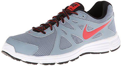 46e440518af Nike Men s Revolution 2 Mgnt Grey Chllng Rd Blk White Running Shoe 8 ...