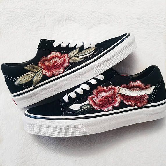 vans old skool damen blumen