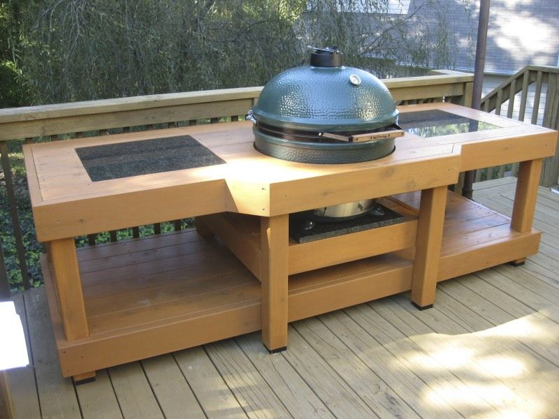 Superior Huge XL Table With Granite Inserts. Big Green Egg ...
