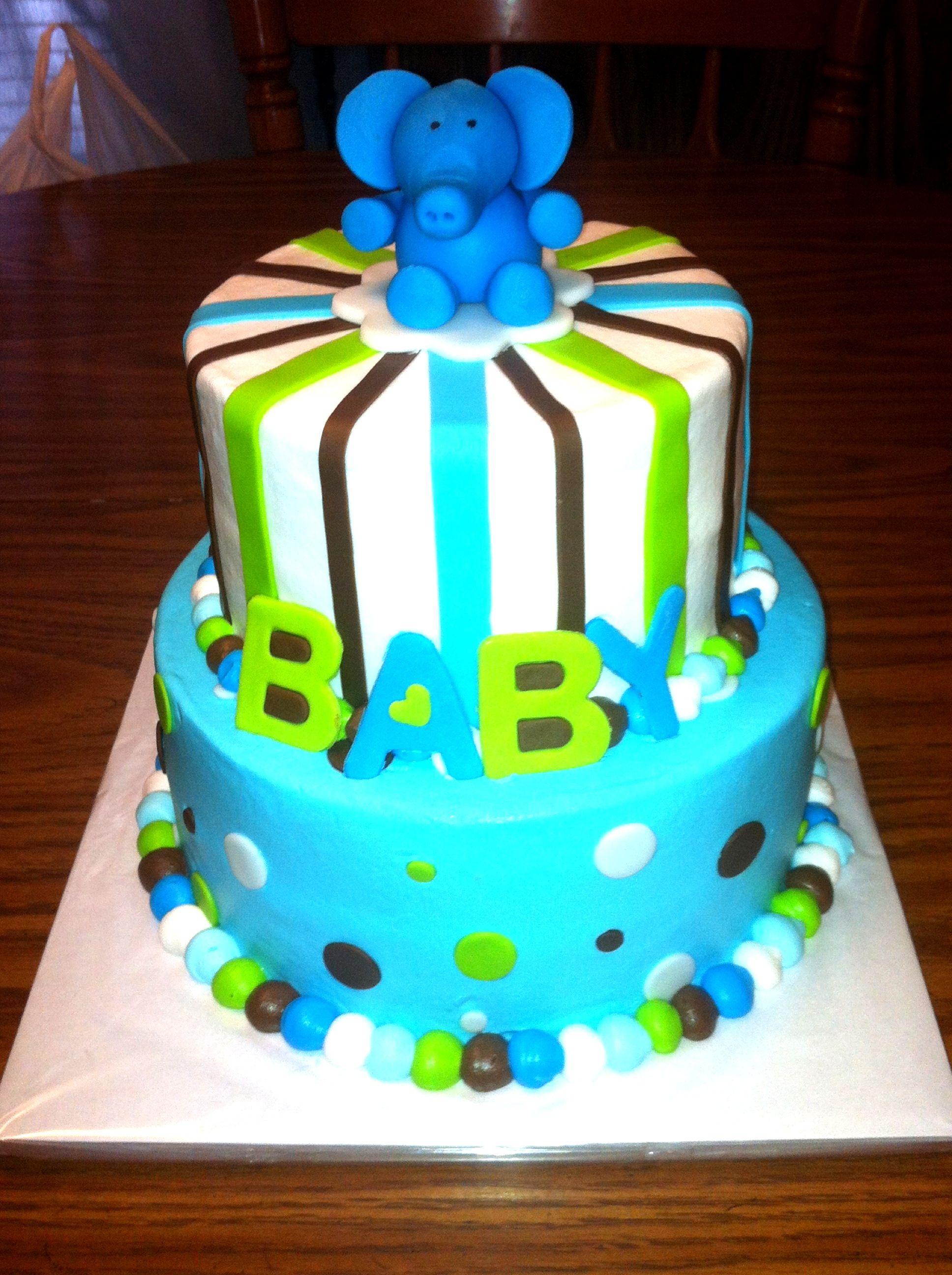elephant baby shower cake cake ideas pinterest