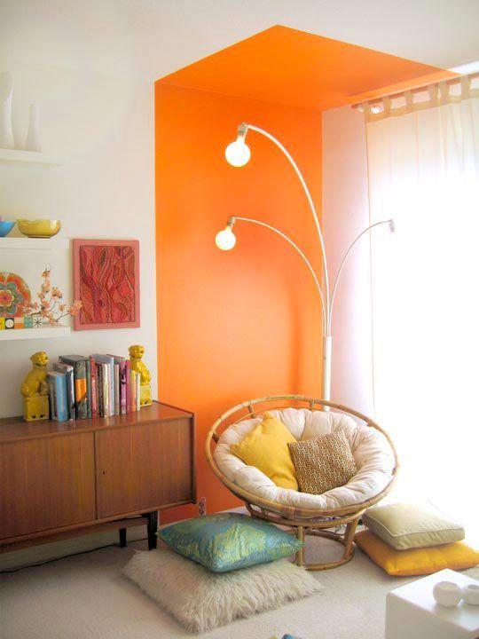 Jobba med färgblock i vardagsrummet \u2013 16 bästa exemplen Irma - Orange Bedrooms