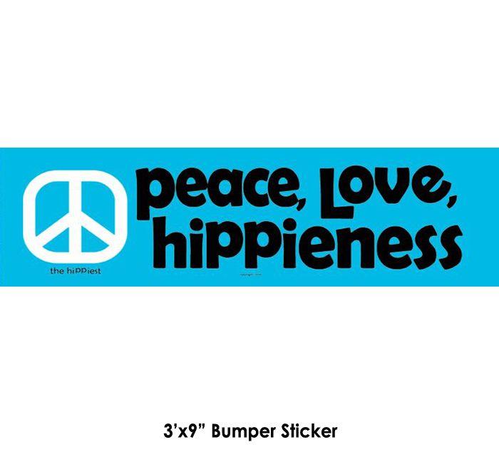 Peace Love Hippienessper Sticker