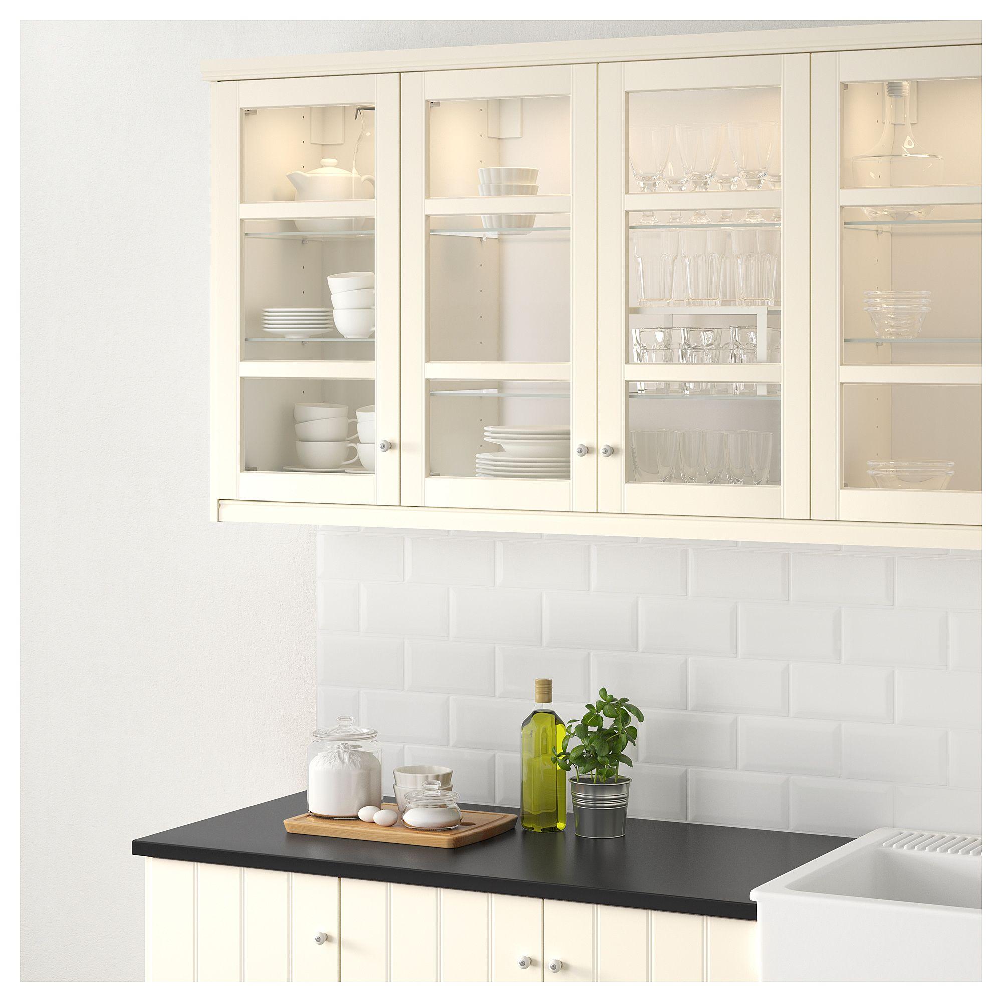 Hittarp Glass Door Off White Ikea New Kitchen Cabinets
