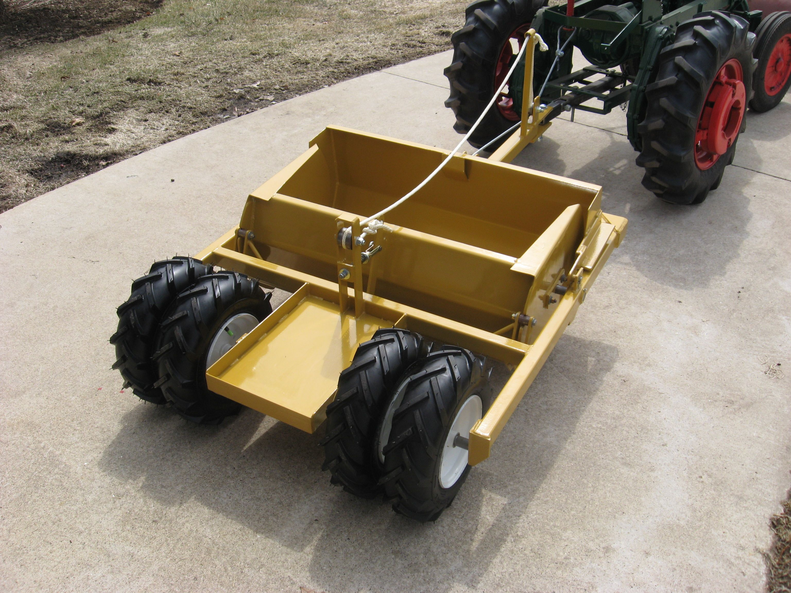 Tractor With A Custom Soilmover Ser