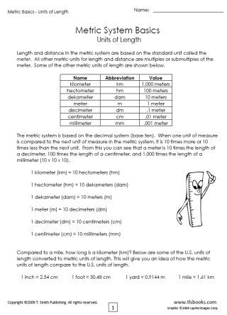 snapshot image of the first page of metric basics packet 1 worksheet set chloe math metric. Black Bedroom Furniture Sets. Home Design Ideas