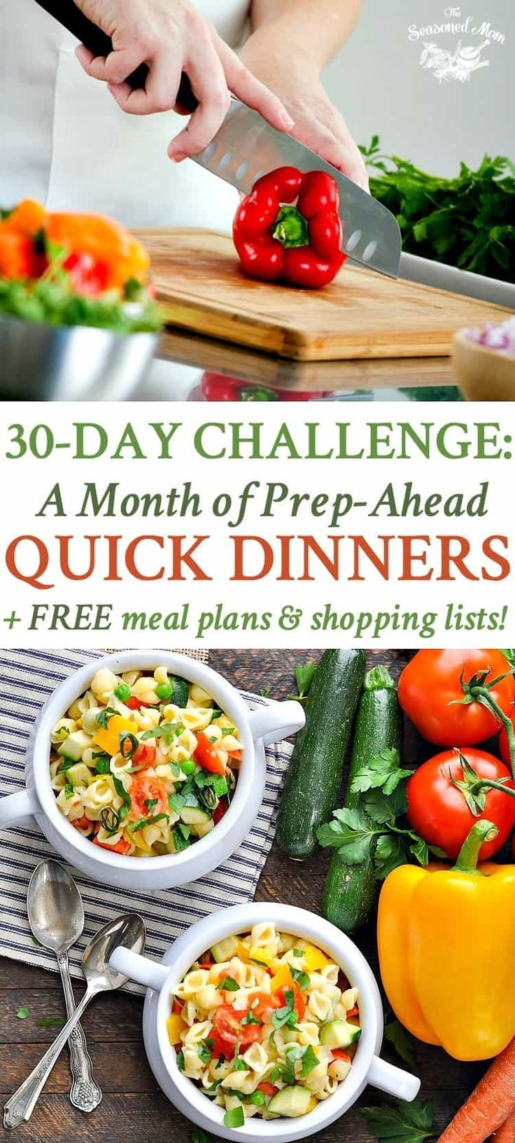 30-Day Challenge: A Month of Prep-Ahead Quick Dinners! images