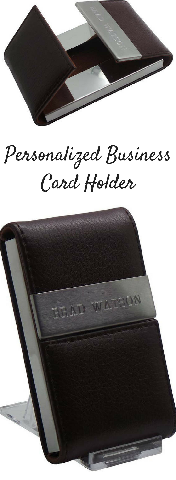 This personalized business card holder would make a great gift for ...