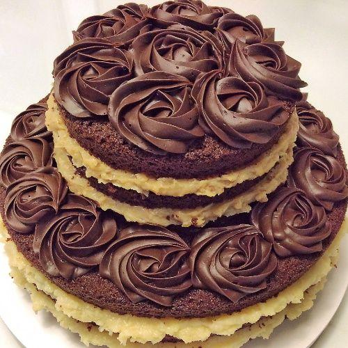 Rosas De Chocolate Cake Ou Bolo Pelado