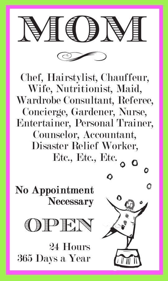 How I Love Being a Mom - Read Job Description Here! u003c3 Quotes - hairstylist job description