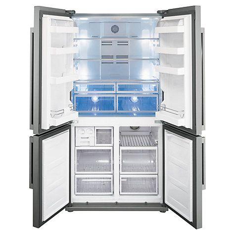 Buy Smeg FQ60XP 4 Door American Style Fridge Freezer, A+ Energy Rating, 90cm