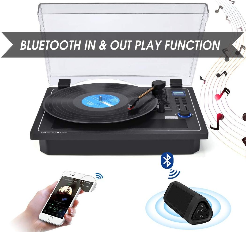 Record Player Turntable Bluetooth In 038 Out Record Player Built In Stereo Speakers Vinyl Records Stereo Speakers Record Player Turntable