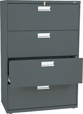 Hon Brigade 600 Series Lateral File Cabinet A4 Legal Letter 4 Drawer Charcoal 19 1 4 D Next2017 At Staples Filing Cabinet Lateral File Lateral File Cabinet