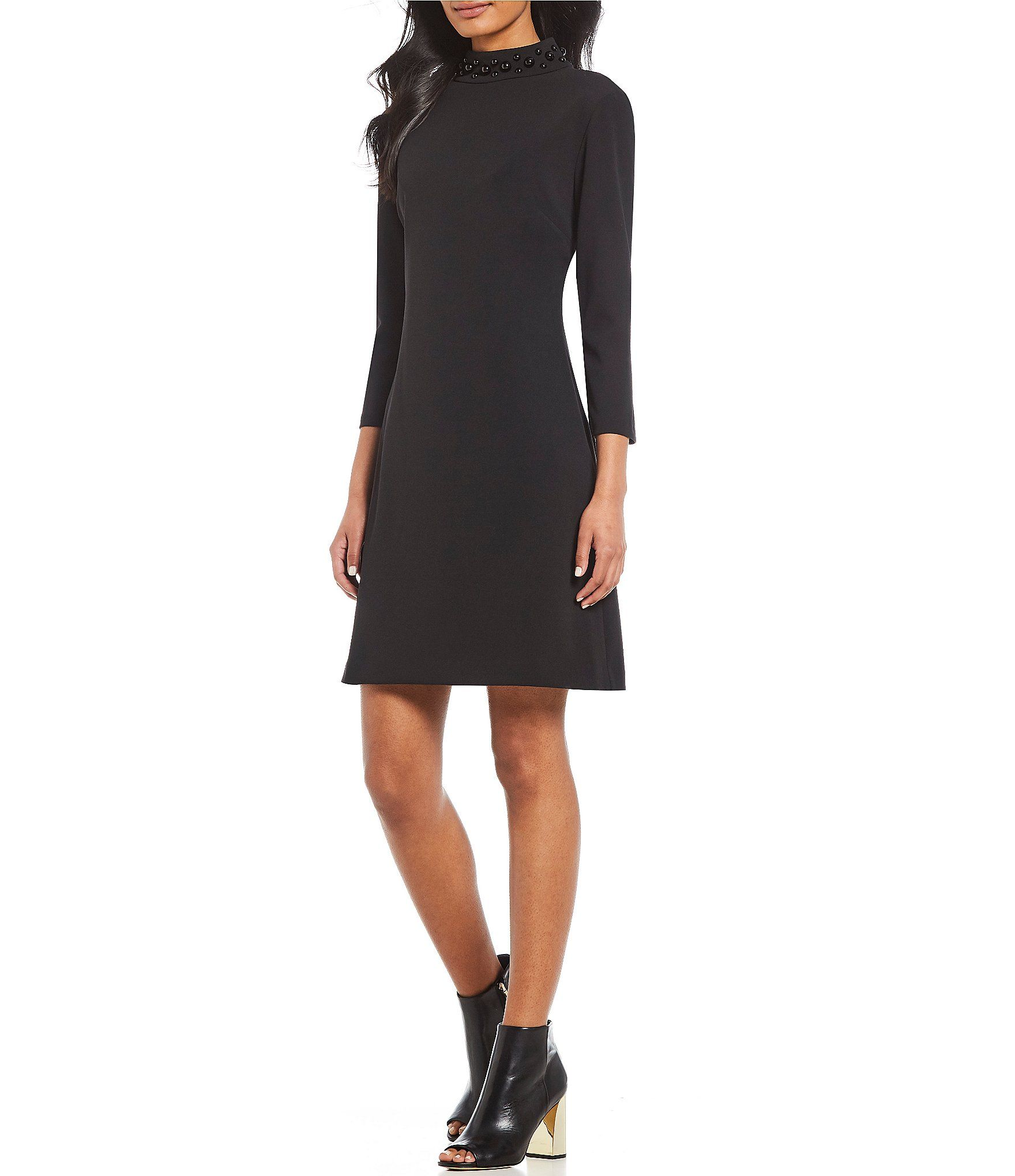 3caf88465ea Shop for KARL LAGERFELD PARIS Pearl Mock Neck A-Line Dress at Dillards.com.  Visit Dillards.com to find clothing