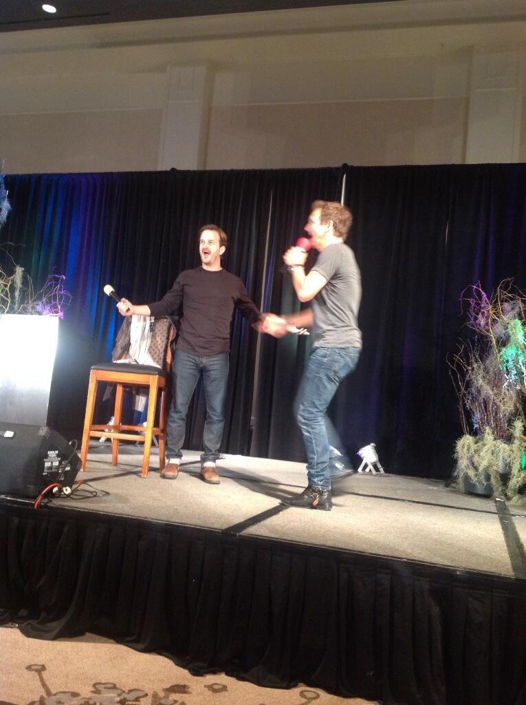 Richard Speight Jr. and Sebastian Roche at ChiCon 2013
