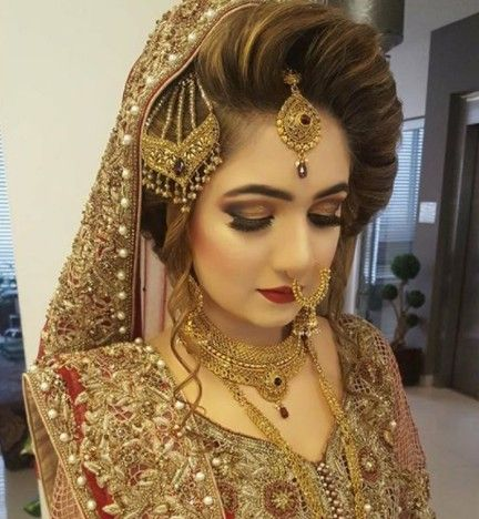 Pakistani Bridal Hairstyles 2018 Dresses In 2019 Pinterest