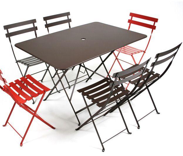 Table Bistro 117x77 cm, table de jardin, table pliante ...