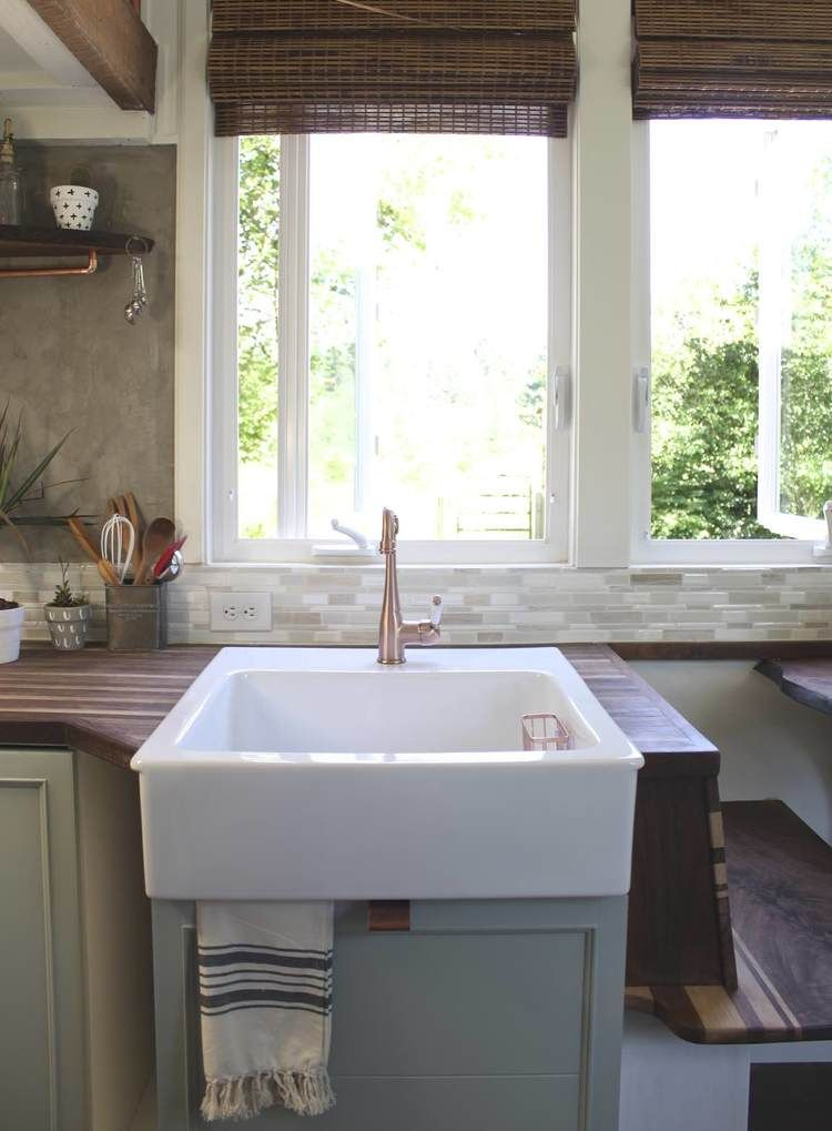 tiny house sink. Eclectic Home Tour - Handcrafted Movement Tiny House Sink S