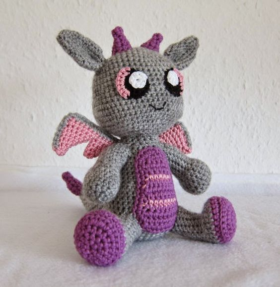 Josy The Dragon - Free Amigurumi Pattern (scroll down) here: http ...