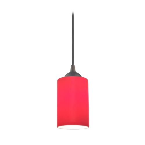 Bronze mini pendant light with red cylinder glass mini pendant bronze mini pendant light with red cylinder glass at destination lighting aloadofball Image collections