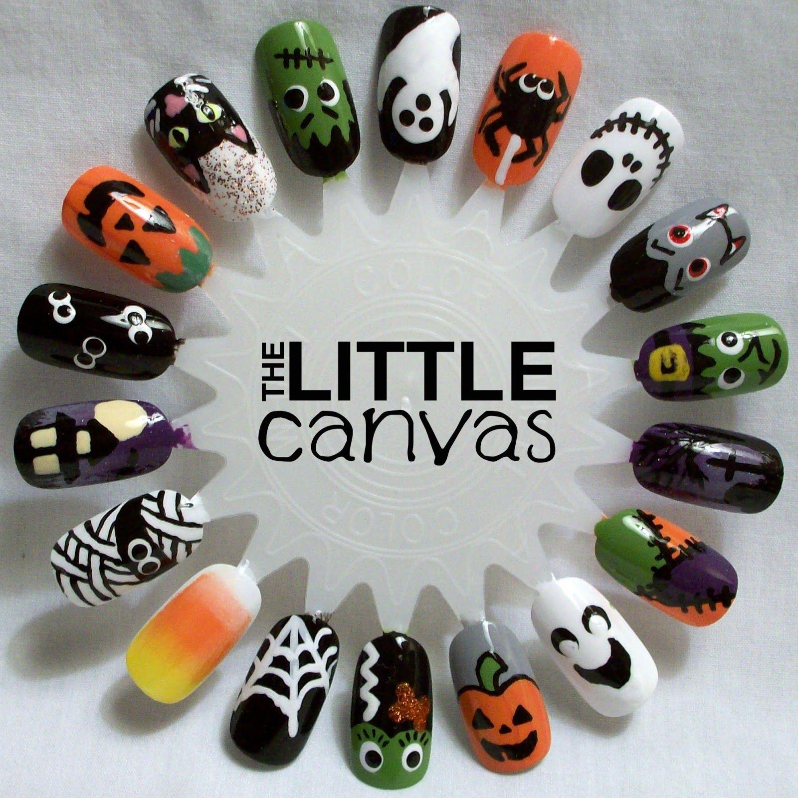 The Little Canvas Halloween Nail Art Wheel Halloween Pinterest
