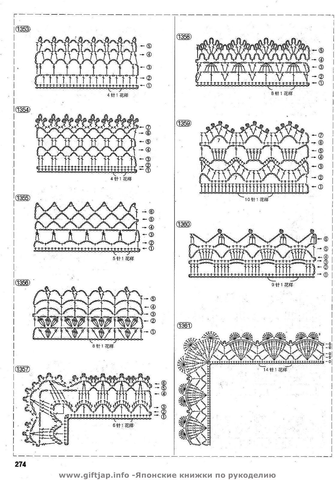 beautiful crochet edgings | crochet edging | Pinterest | Borte ...