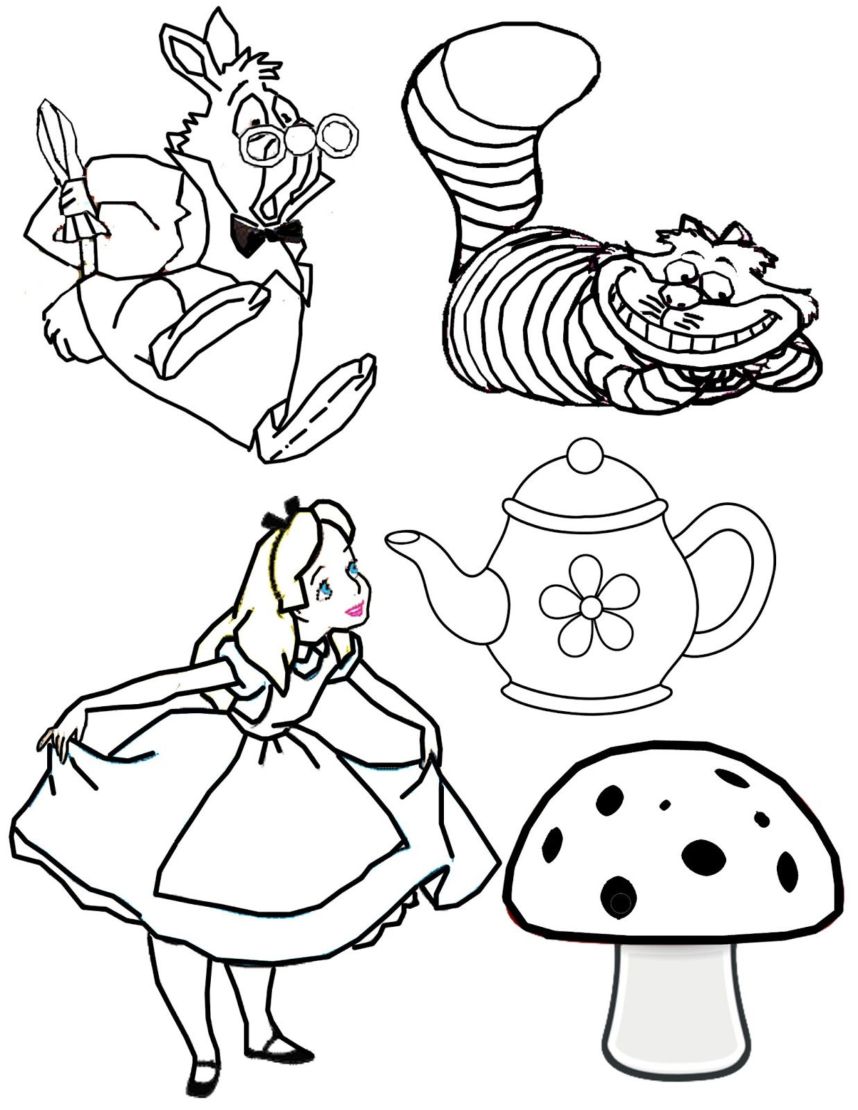 Mad hatter disney drawing