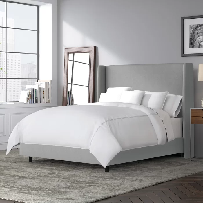 Alrai Upholstered Low Profile Standard Bed in 2020
