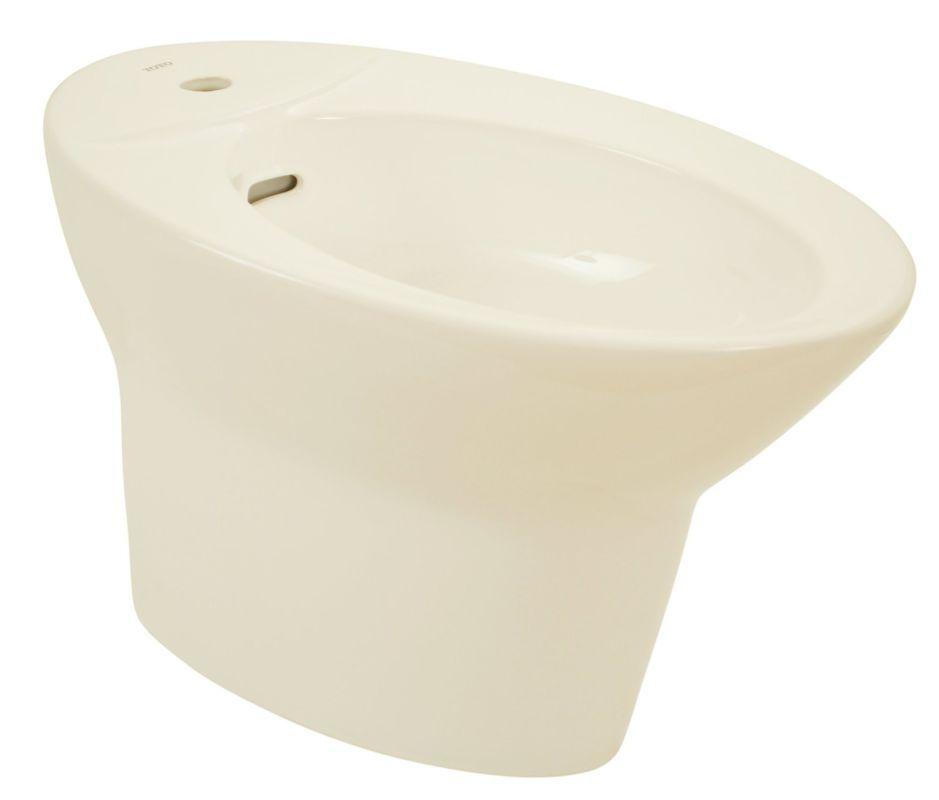 Toto BT904A Pacifica Floor Mounted Porcelain Bidet - Single Hole Faucet Drilling Sedona Beige Fixture Bidet Horizontal Spray
