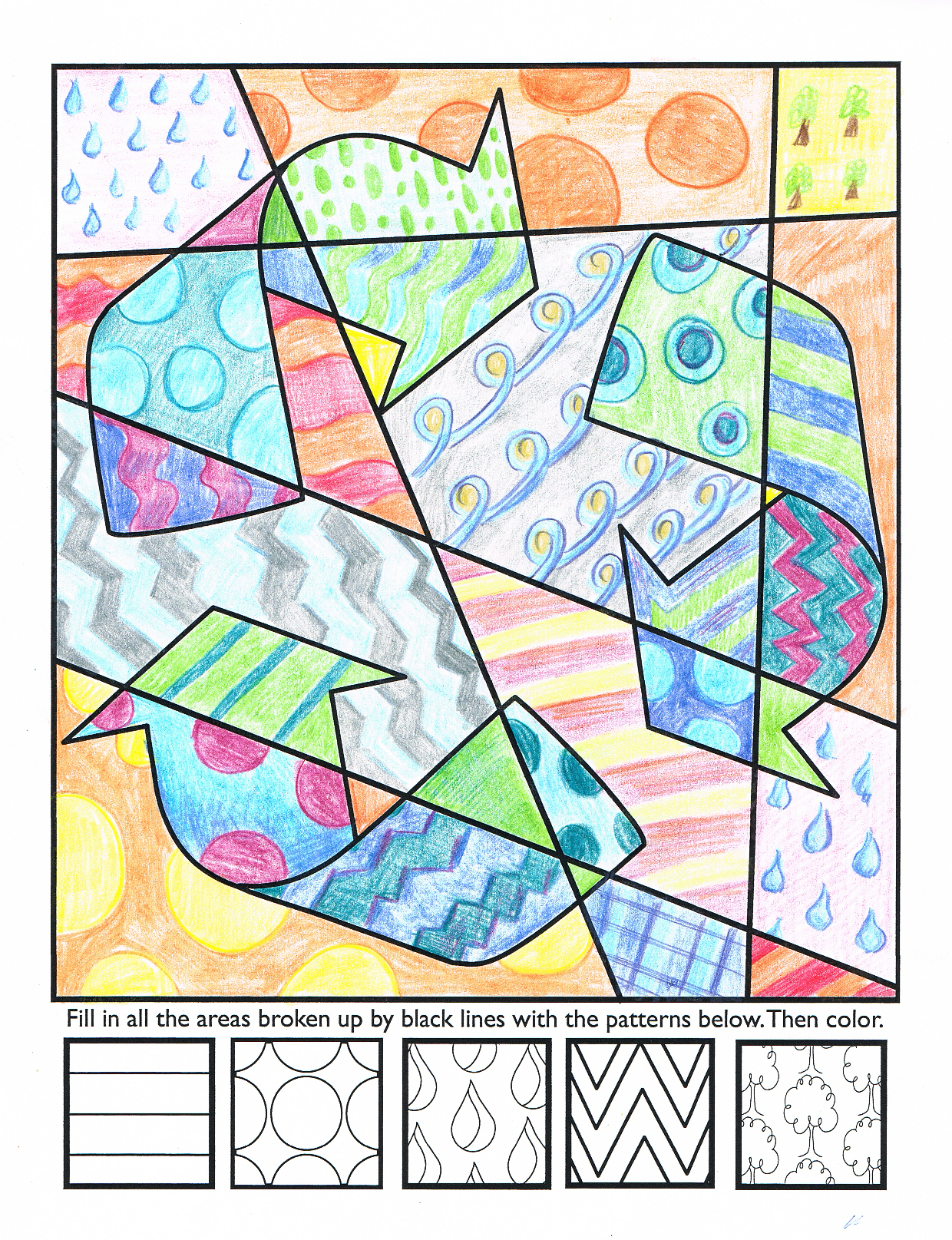Earth day coloring pages for adults -  Pop Art Earth Day Interactive Coloring Sheets