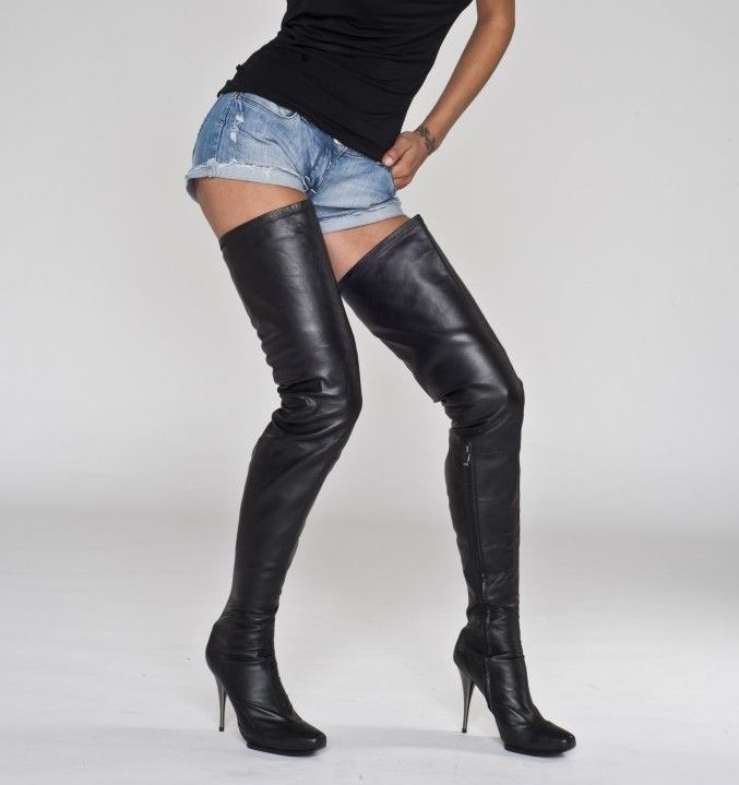 This new Arollo thigh high boots with an extra long shaft – crotch ...