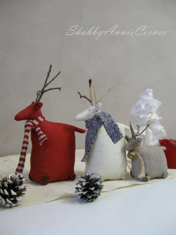 Scandinavian Christmas Deer Gray Nordic Christmas Decoration Etsy Scandinavian Christmas Decorations Primitive Christmas Nordic Christmas Decorations