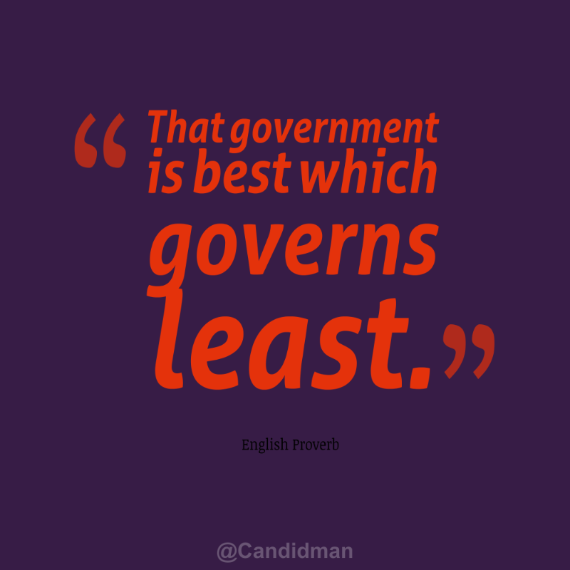 the government is best which governs least