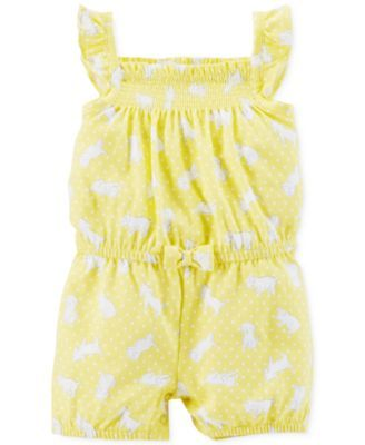 Carter's Baby Girls' Polka-Dot Puppy Romper