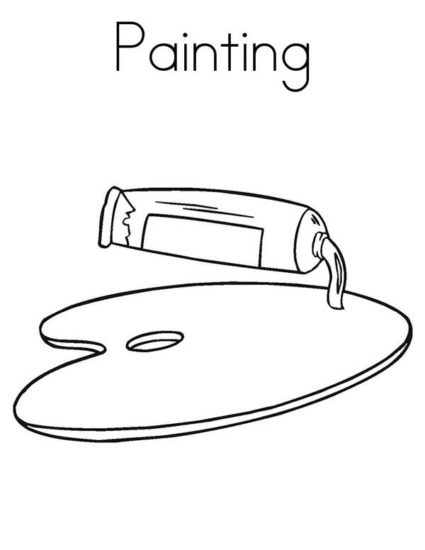 Oil Paint On Board Coloring Page Coloring Sky Coloring Pages Oil Painting Painting