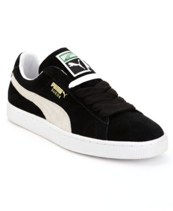 12dacb3a7e2 Puma Men s Suede Classic Casual Sneakers from Finish Line - Black 7.5