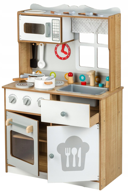 Drewniana Kuchnia Kuchenka Zestaw Ecotoys Home Decor Kitchen Kitchen Cart